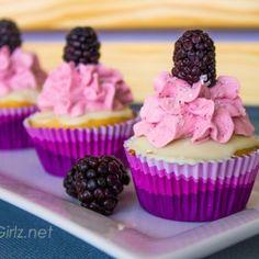 Blackberry White Chocolate Cupcakes recipe