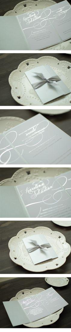 Srebrne zaproszenia ślubne w katalogu. Zapraszam:)