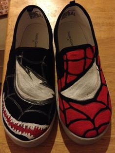 Gabe's Spiderman shoes