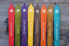 Wooden Ski Growth Chart -- that would be fun to have for the boy's room!  Or maybe I should make a fabric one that can be rolled up and stored more easily...hmmm....