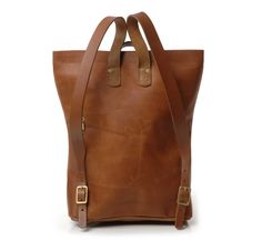 Leather Harvest Backpack by Kika NY - shop at Roztayger