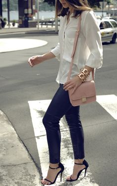 fashforfashion -♛ STYLE INSPIRATIONS♛  Ankle strap heals instant day to night shift.