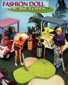Fashion Doll on the Green, Annie's plastic canvas patterns fit Barbie dolls