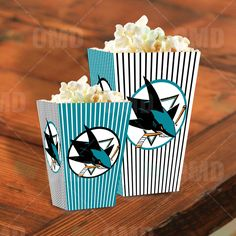 San Jose Sharks Party Popcorn Boxes