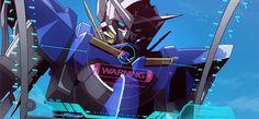 Gundam Exia being BADASS.