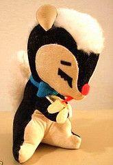 Vintage 1960's Dakin Dream Pet Skunk Plush