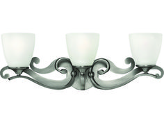 Hinkley Lighting Reese Antique Nickel Three-Light Vanity Light | HY56323AN