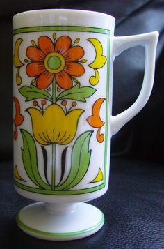 Vintage Footed Espresso Cup - LOVE