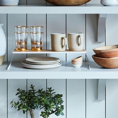 Steel & Wood Dish Riser (Set of 2)