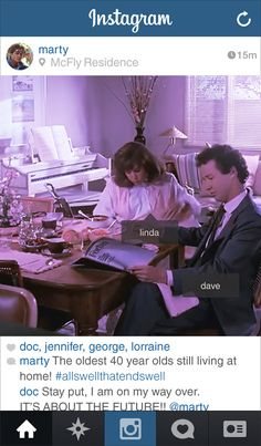 """If Marty From """"Back to the Future"""" Had Instagram"""
