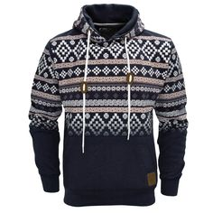 Tribal Print Hoodie Men | ... Aztec Print Pullover Hoodie Hoody Hooded Top Mens Size S-XL | eBay