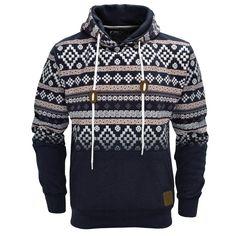 Tribal Print Hoodie Men | ... Aztec Print Pullover Hoodie Hoody Hooded Top Mens Size S-XL | eBay