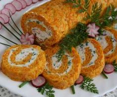 Rolada marchewkowa Appetisers, Savoury Cake, Sushi, Food And Drink, Cooking Recipes, Yummy Food, Snacks, Breakfast, Healthy