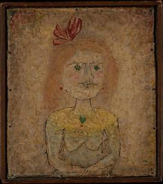 'Small Portrait of a Girl in Yellow' (1925) by Paul Klee