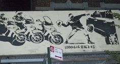 Banksy Remixed To Protest Cops' Alleged Role In Motorcycle Rampage Assault, Washington Heights, NY
