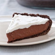 Dreamy Drops: Low-Fat Chocolate Mint Pudding Pie.  A refreshing #summer dessert!