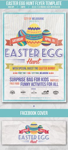 Easter Egg Hunt Flyer Template Easter eggs, Flyers and Eggs - Invitation Flyer Template