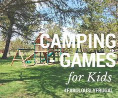 """After spending money on #camping gear, supplies and setting up camp, the last thing you want to hear is your child utter the words """"I'm bored"""". Fortunately, there are a multitude of #games that will cost you little to nothing and they can help you and your children enjoy an exciting and cost efficient camping #adventure. We have tried to address this concern by providing convenient campground games at all of our resorts! http://www.highwaywestvacations.com/camping-games-for-kids/"""