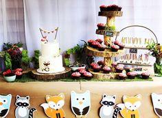 Woodland Animals, Wild One Birthday Party Ideas | Photo 1 of 12