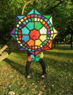 Crochet Parasol. No pattern, but if I sat down and looked at the picture I could figure it out soon enough.