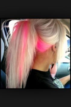 pink highlights!