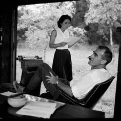 "Anne Bancroft & writer William Gibson working on ""The Miracle Worker"" The Miracle Worker, William Gibson, Anne Bancroft, Bette Davis, Style Icons, Musicals, Writer, Cinema, Hollywood"