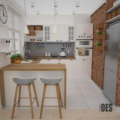 Projekt kuchni i salonu w Siemianowicach