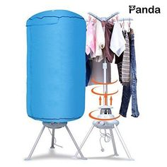 Portable Washing Drying Machine Ventless Cloths Dryer Folding Heater Tool Blue #Panda