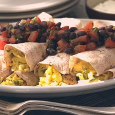 Scrambled #EGG Burrito - Cooking.com I'm pinning for a chance to win the prize in the Jumpstart Your Morning Contest