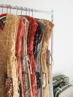 Pretty frocks all in a row... | Perfect example....buy every color if you find a great look.