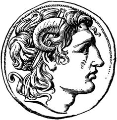 Coin of Alexander the Great Roman Drawings, Cool Drawings, Great Tattoos, Small Tattoos, Tattoo Sketches, Tattoo Drawings, Plage Nail Art, Simbolos Tattoo, Woodcut Tattoo