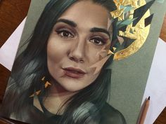 """15.3k Likes, 249 Comments - Maria Björnbom Öberg (@bokkei) on Instagram: """"This is hos my portrait of @safiyany ended up looking. Have been waiting to draw Safiya for so…"""""""