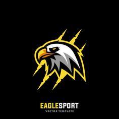 Logo Bird, Eagle Sports, Eagle Vector, Team Logo Design, Sports Team Logos, Esports Logo, Illustration Vector, Eagle Logo, Photo Logo