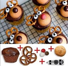 Easy and pretty. You can use already cupcakes or you can make it yourself.