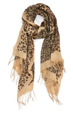 A leopard-print scarf is the perfect layering piece.