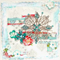 Snowflake Canvas - Scrapbook.com