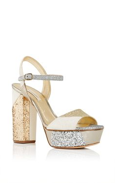 Patchwork Hollywood Glitter Platform by CASADEI for Preorder on Moda Operandi