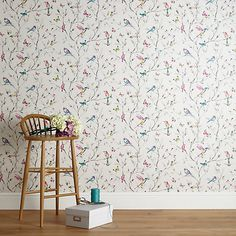 Buy John Lewis Hummingbird Trees Wallpaper, Multi Online at johnlewis.com $33 for 10m