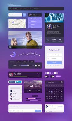 Free Flat UI Kit by Honya on DeviantArt