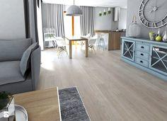 wood and grey - Średnia otwarta jadalnia w kuchni, styl nowoczesny - zdjęcie od Karolina Czapla