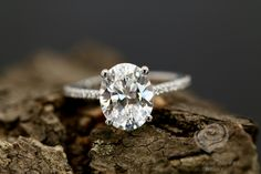 FOREVER ONE Certified 9x7mm/2.10 Carats Oval Cut Moissanite 14k White Gold Diamond Engagement Ring (Bridal Wedding Set Available) by loveforeverjewelrysv on Etsy