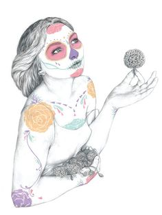 a3 print of original illustration  dios de los by harrietgray, £15.00