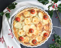 This tasty Mediterranean zucchini, leek & potato quiche is a yummy & healthy meal perfect for your Christmas dinner.