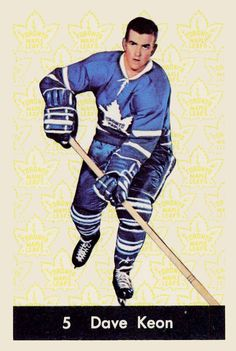 Dave Keon 1961-62 Parkhurst Hockey Card