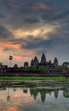 The sun rising over Angkor Wat in Siem Reap, Cambodia. The temples can be seen on a guided tour. pic: ecperez