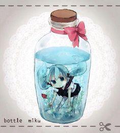 Hatsune Miku #Vocaloid#Kawaii#Bottle