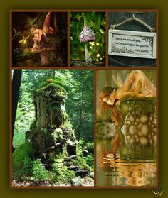 by Linda Hay Forest Flowers, Fantasy World, Elves, Enchanted, Collages, Mystic, Bloom, Invitations, Dreads