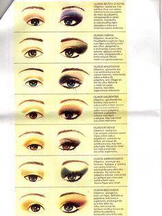 Truques para olhos - Aprenda Maquiagem