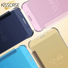 3.49$  Buy here - KISSCASE Plating Mirror Case For Samsung J1 J5 J7 Case Full Protective Fashion Ultra Thin Flip Cover For Samsung Galaxy J1 J5 J7   #aliexpress
