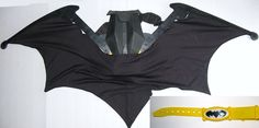 2007 DC DARK KNIGHT 5 Ft Deployable Wings Utility Belt Halloween Cosplay Costume #DCComics